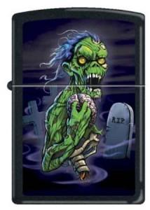 Zippo-Custom-Lighter-RIP-Scary-Green-Zombie-RARE-1